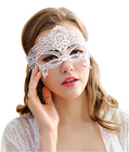 Embroidered Venice Masquerade Mask White