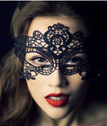 Embroidered Venice Masquerade Mask Black