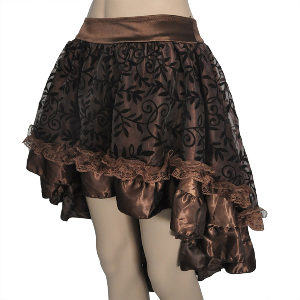 Luxury Steampunk Skirt Brown