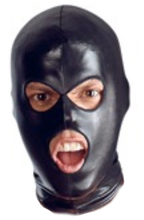 PVC Wet Look Full Head Hood Mask