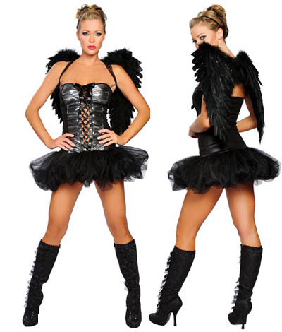 Naughty Dark Angel with Wings