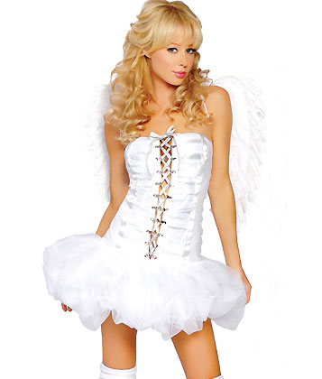 Sexy Angel Costume With Wings