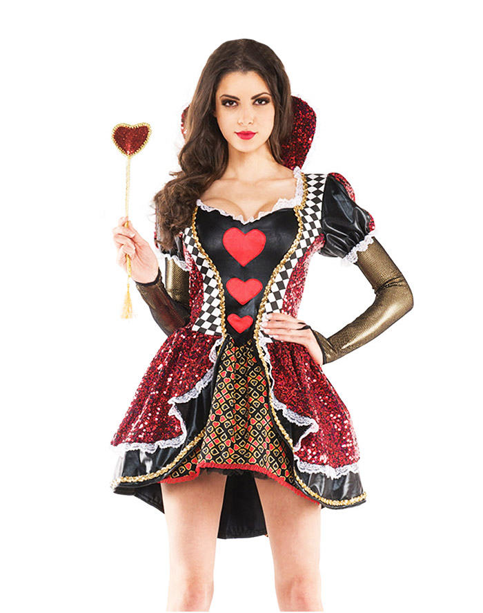 Royal Queen Of Hearts Costume
