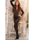 Long Sleeve Bodystocking Black