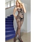 Fishnet Bodystocking With Satin Bow