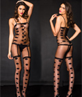 Dot Print Bodystocking