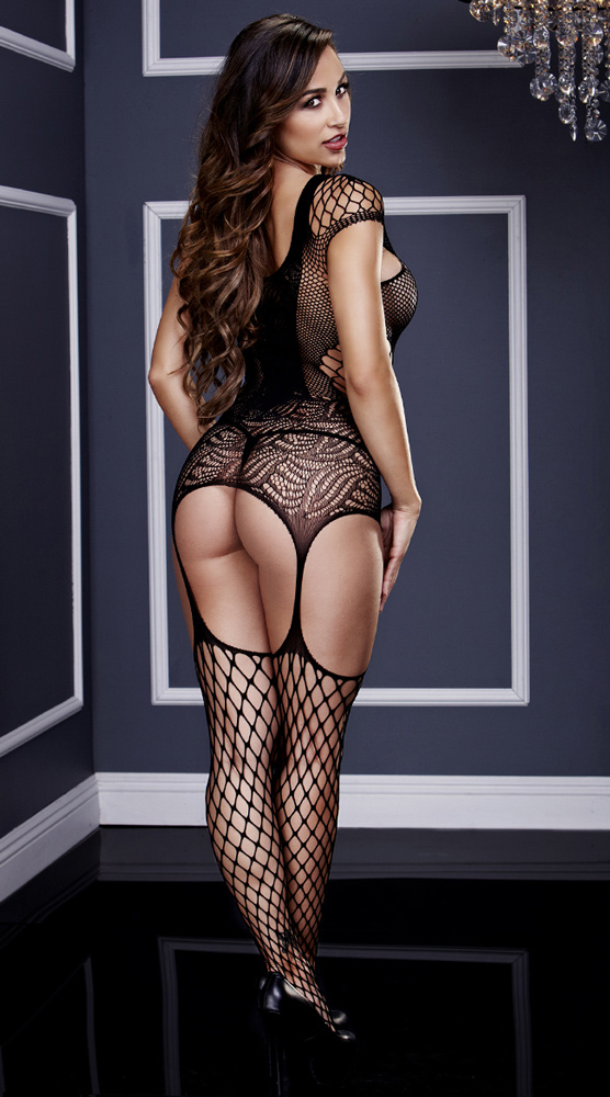 Fishnet and Suspender Bodystocking