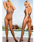 Criss Cross Open Front Body Stocking