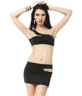 All Zipped Up Two Piece Set Black