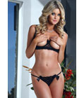 Hurricane Sexy Lingerie Set Black