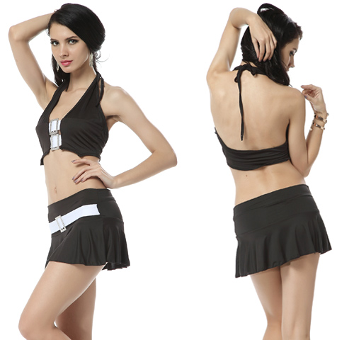 Halter Vest With Mini Skirt