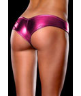 Metallic Micro Shorts Panty Thong Purple