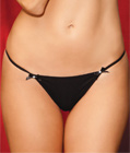 Diamond Back G-string Black