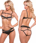 PVC Bra And Panty Set
