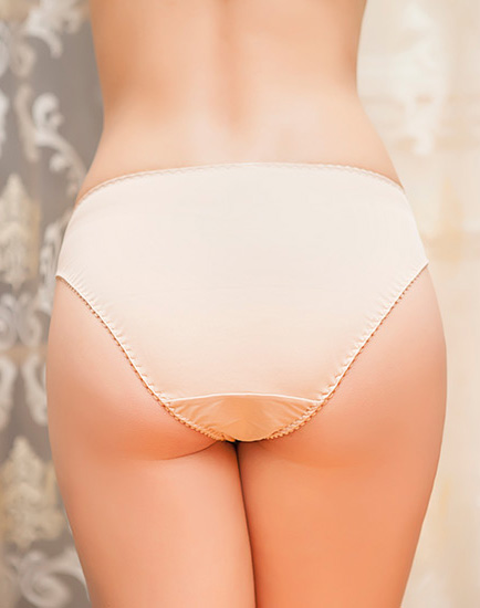 Lace Front Panty With Criss Cross