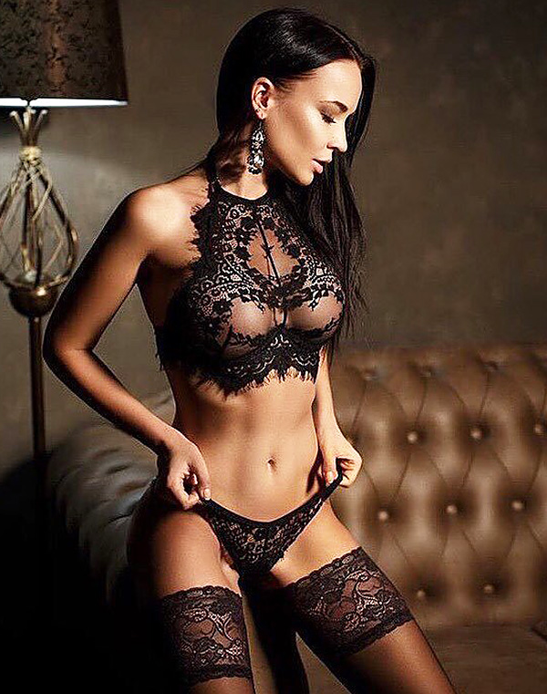 Eyelash Lace Bra Top Set Black