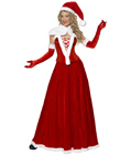 Luxury Miss Santa Long Costume