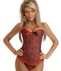 Gothic Brocade Corset Black&Red