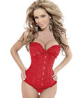 Gothic Brocade Corset Red