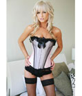 Light Pink Lace Up Corset