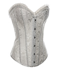 Steel Boned Brocade Bridal Corset White