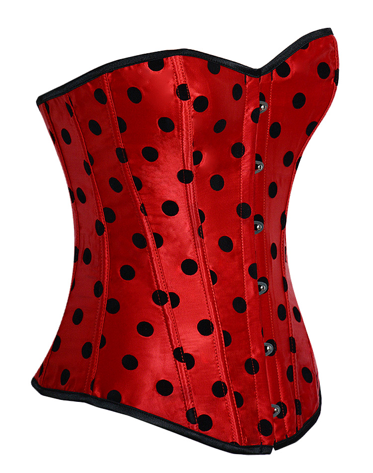 Black Dots - Red Corset