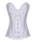 Diamond Embellish Corset White