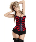 Burlesque Red Ribbons Corset