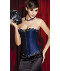 Beauty Floral Trimmed Corset Blue
