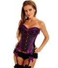 Purple Vegas Showgirl Burlesque Corset