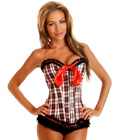 Plaid Burlesque Corset