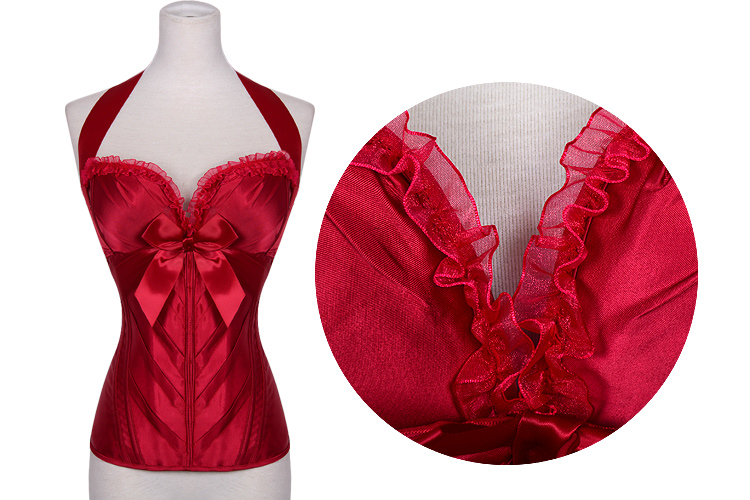 Delectable Sweetheart Overbust Corset Red