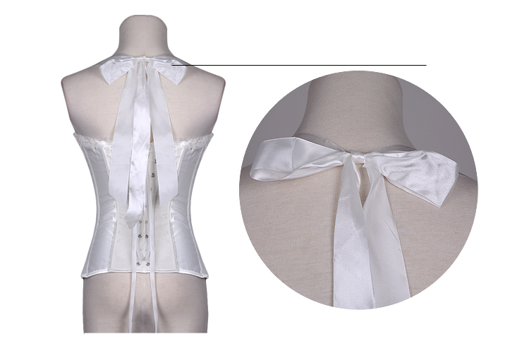 Delectable Sweetheart Overbust Corset White