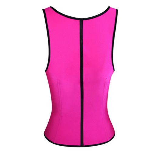 Latex Rubbber Steel Boned Body Shaper Pink