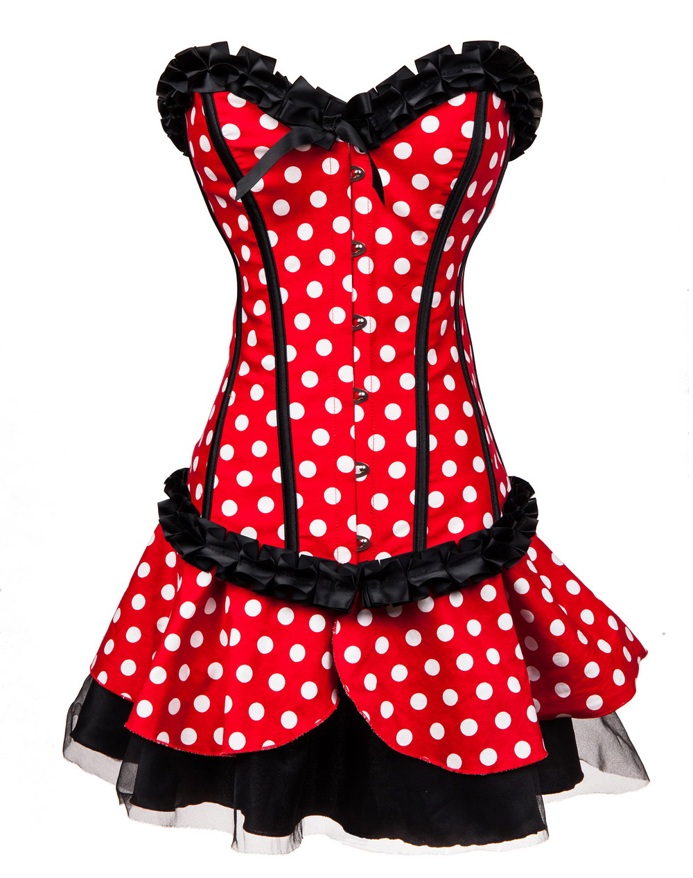 Minnie Mouse Corset, Mini Skirt & Head Band Sets