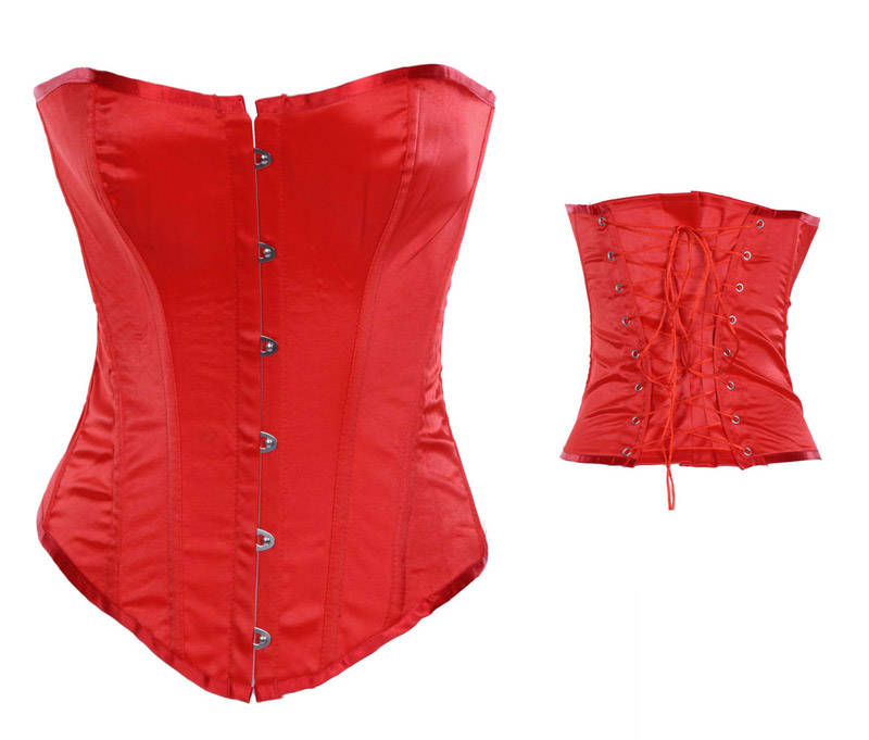 Classic Overbust Corset Red
