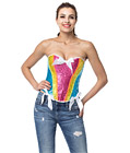 Rainbow Sequin Burlesque Corset