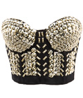 Steampunk Bustier Top Gold