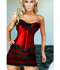 Noble Corset With Underwear Skirt Red