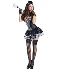 Wet Look French Maid Costume