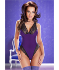 Cora Black Body Teddy Purple