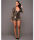 Sequined Bodycon Teddy Gold