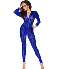 Punk Wetlook Jumpsuit Blue