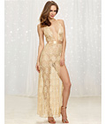 Deluxe Champagne Lace Gown