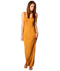 Simple Casual Maxi Long Dress Yellow