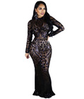Maxi Long Sequin Dress Black