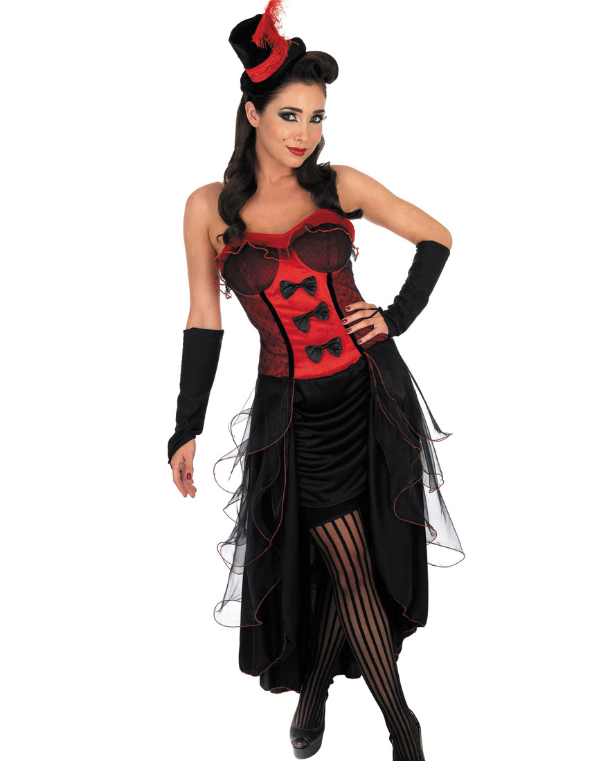Burlesque Babe Adult Costume Red
