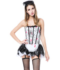 Halloween Zombie French Maid Costume