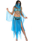 Blue Belly Dancer Princess Costume