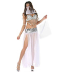 Arabian Sequined Dancer Costume White